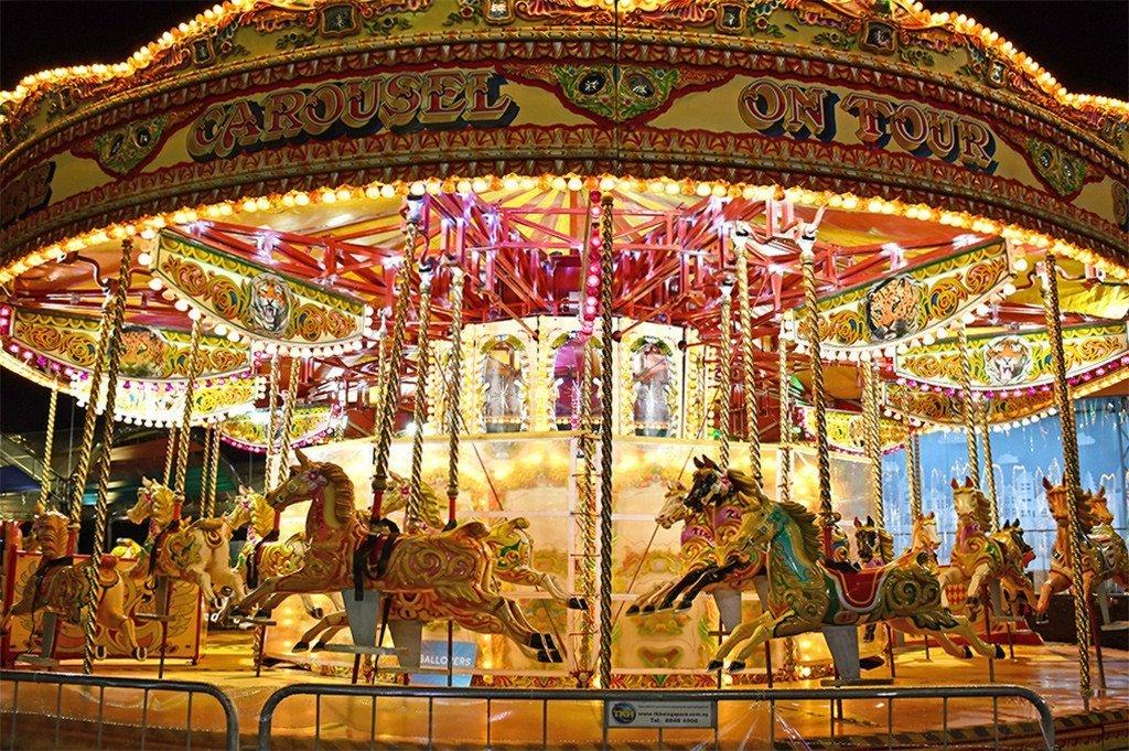 Kid's Carousel at Prudential Marina Bay Carnival.