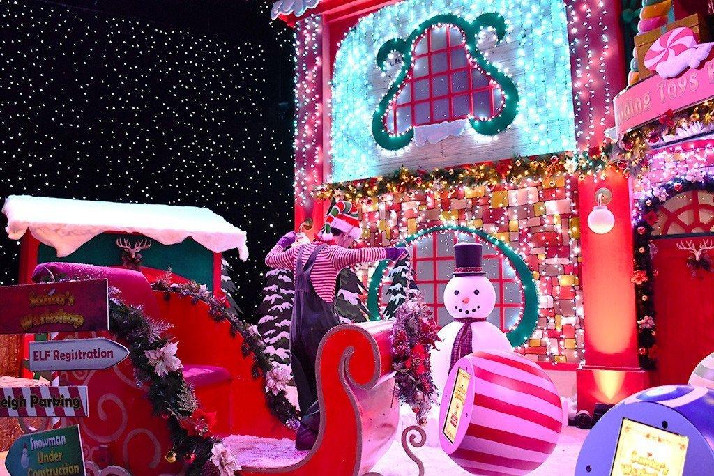 Universal Studios Singapore Santa's Workshop.