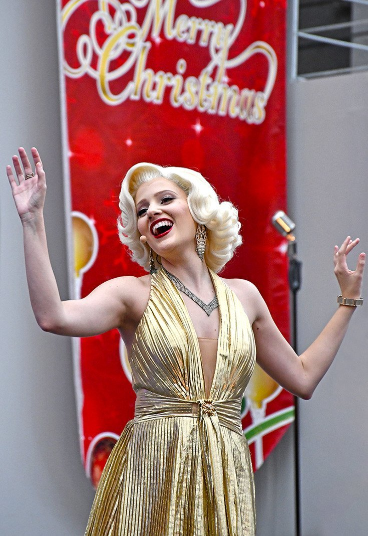 Marilyn Monroe at Universal Studios Singapore.