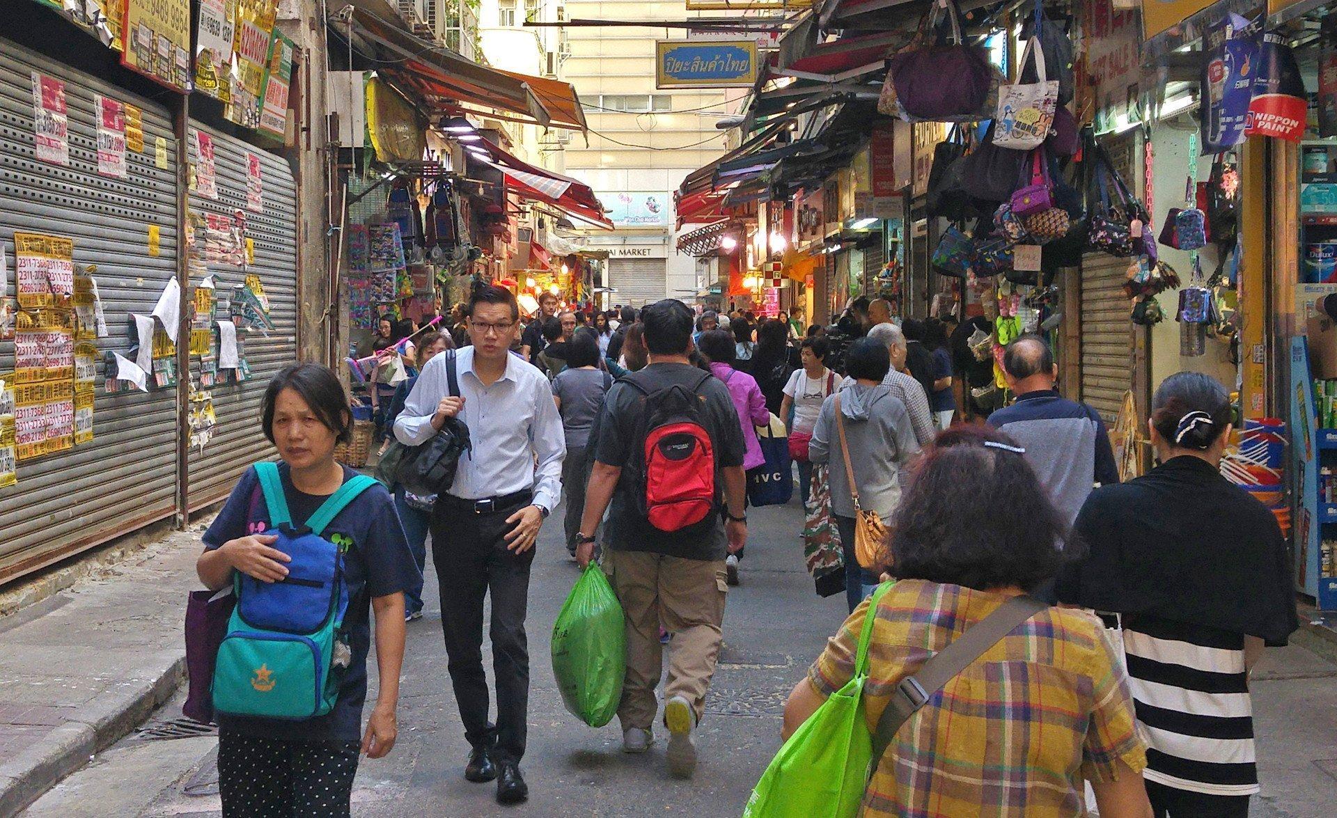 Wan Chai Market and vicinity.