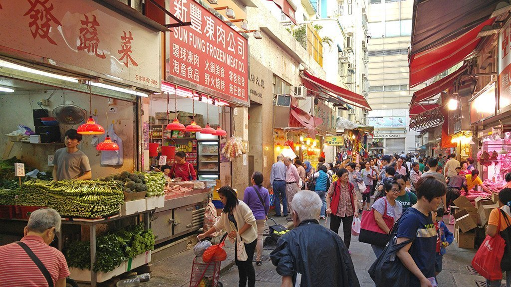 Wan Chai Hong Kong Street Market - Daytime