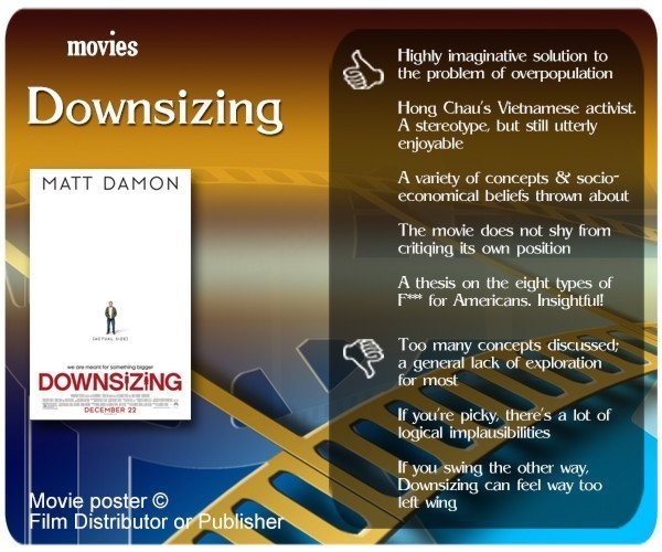 Downsizing review - 5 thumbs up and 3 thumbs down.