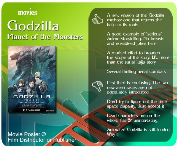 Godzilla: Planet of the Monsters review - 4 thumbs up and 4 thumbs down.