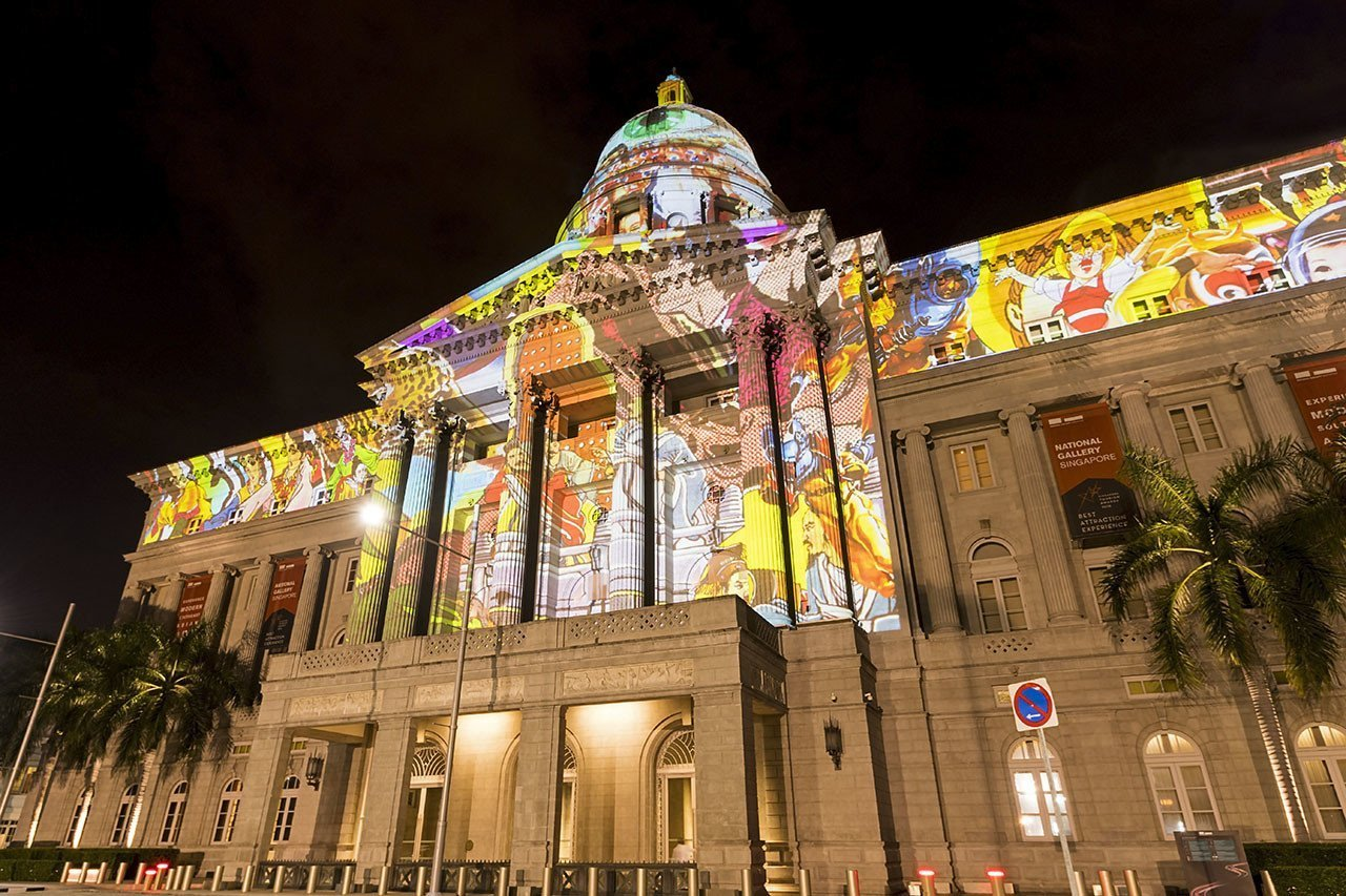 Light to Night Festival 2018 - National Gallery Singapore