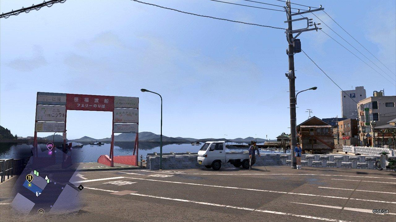 Ryū ga Gotoku 6 Ferry Pier Screenshot.