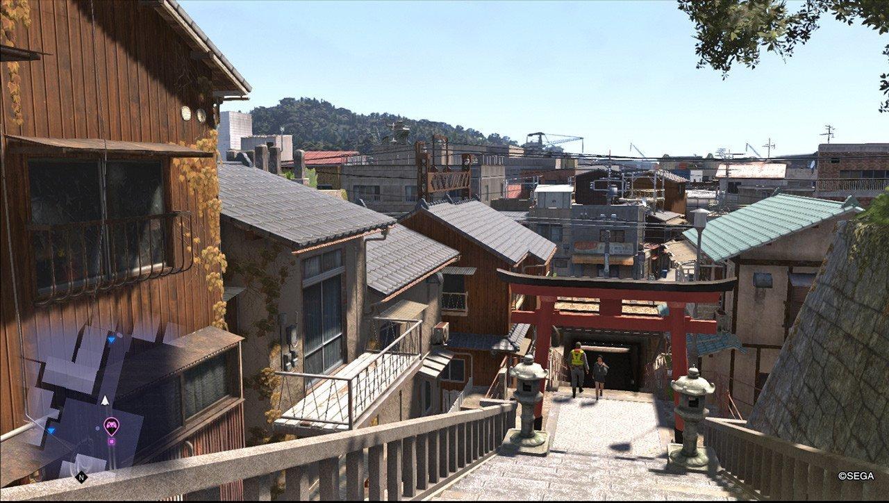 Ryū ga Gotoku 6 Temple Slope Screenshot