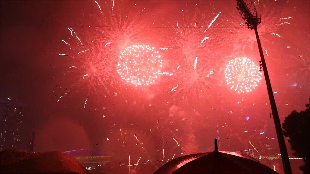 Singapore Marina Bay New Year Fireworks 2018