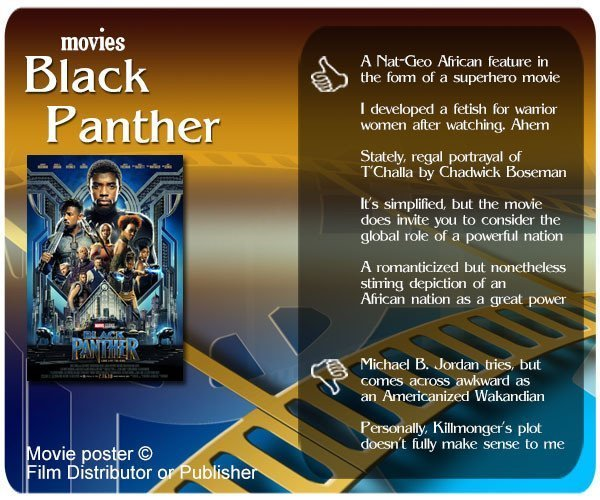 Black Panther review - 5 thumbs up and 2 thumbs down.