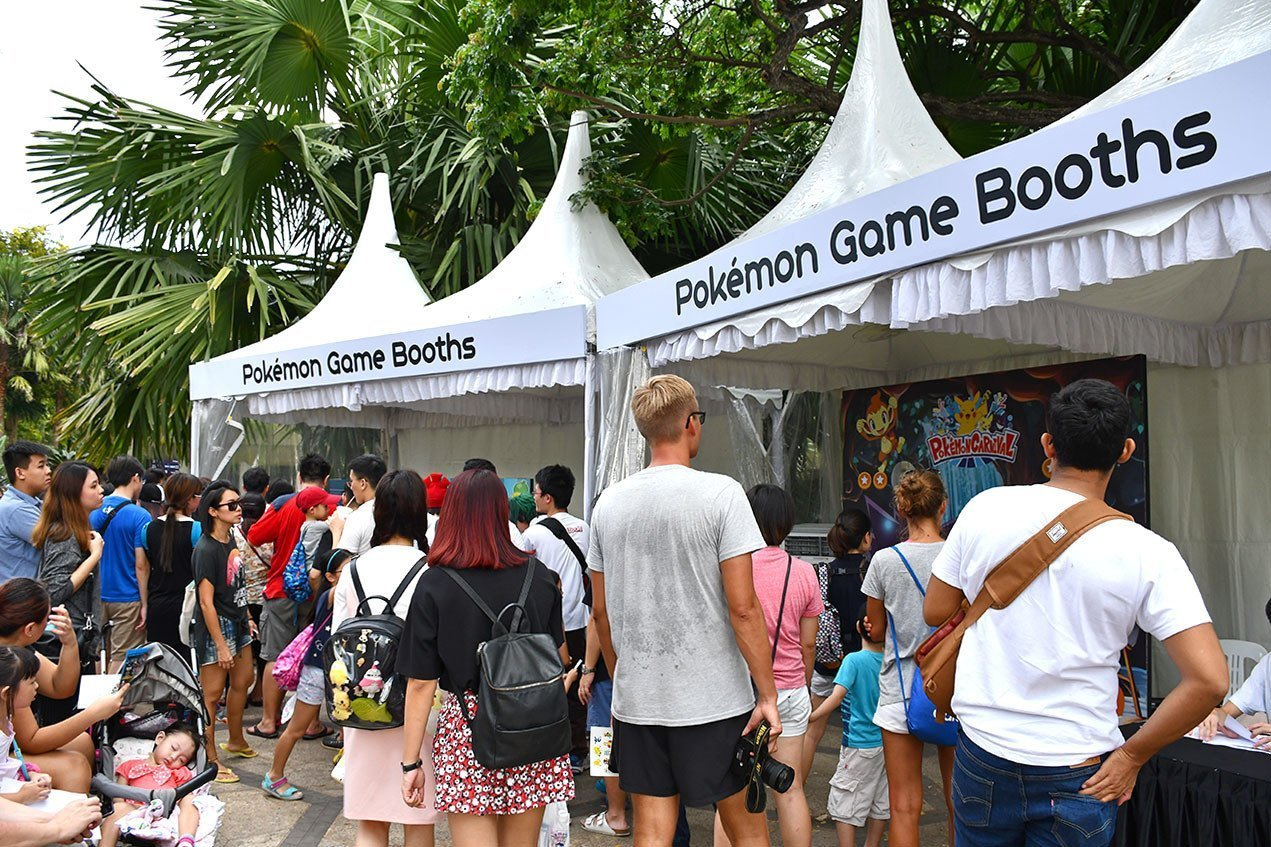 Anime Garden 2018 Pokémon Game Booths