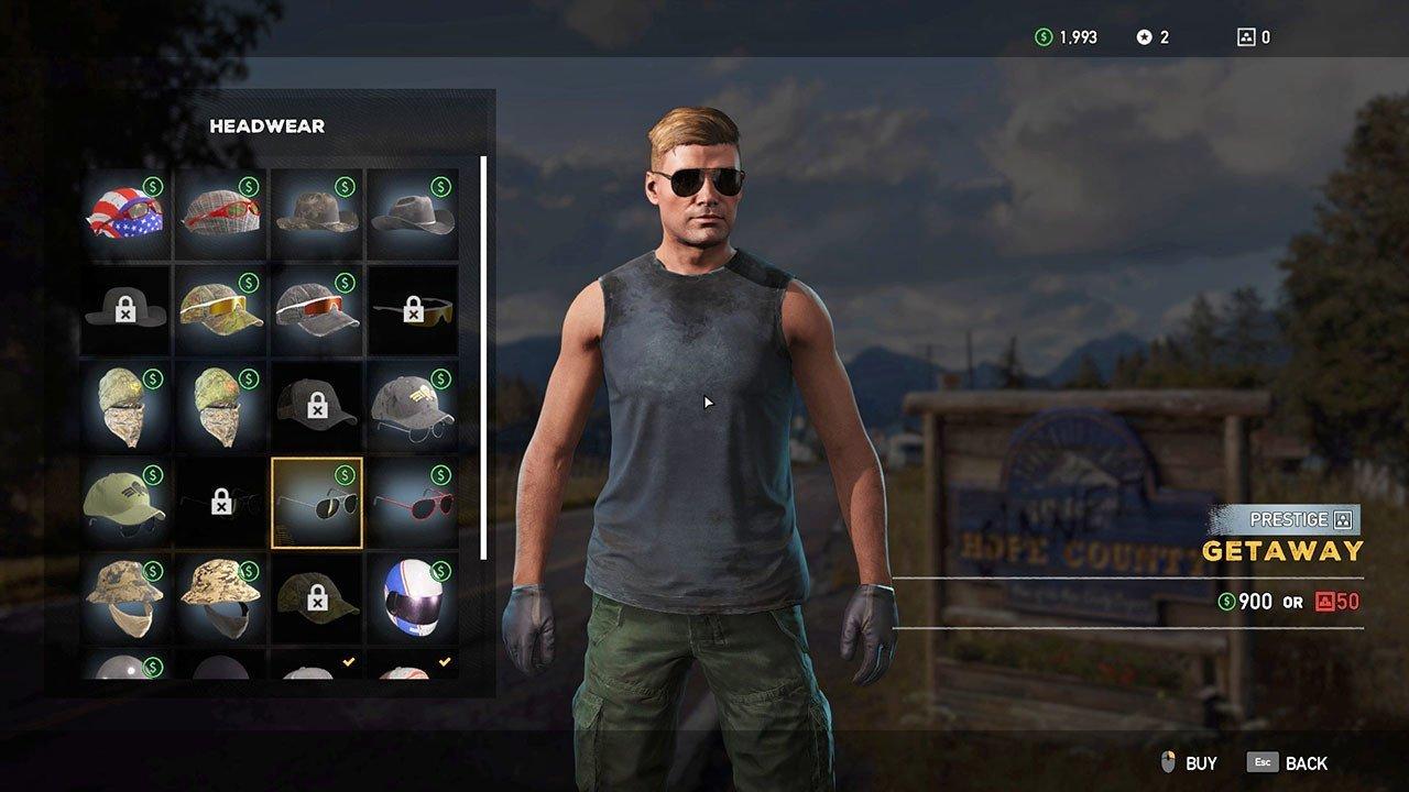 Far Cry 5 Character customization.