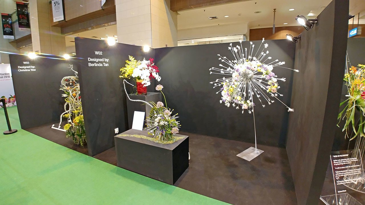 Floral Windows to the World 2018 Exhibition Pieces.