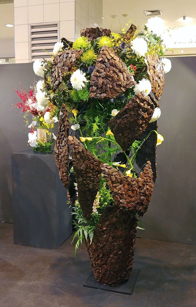 Competitive Floral Arrangement at Ngee Ann City.