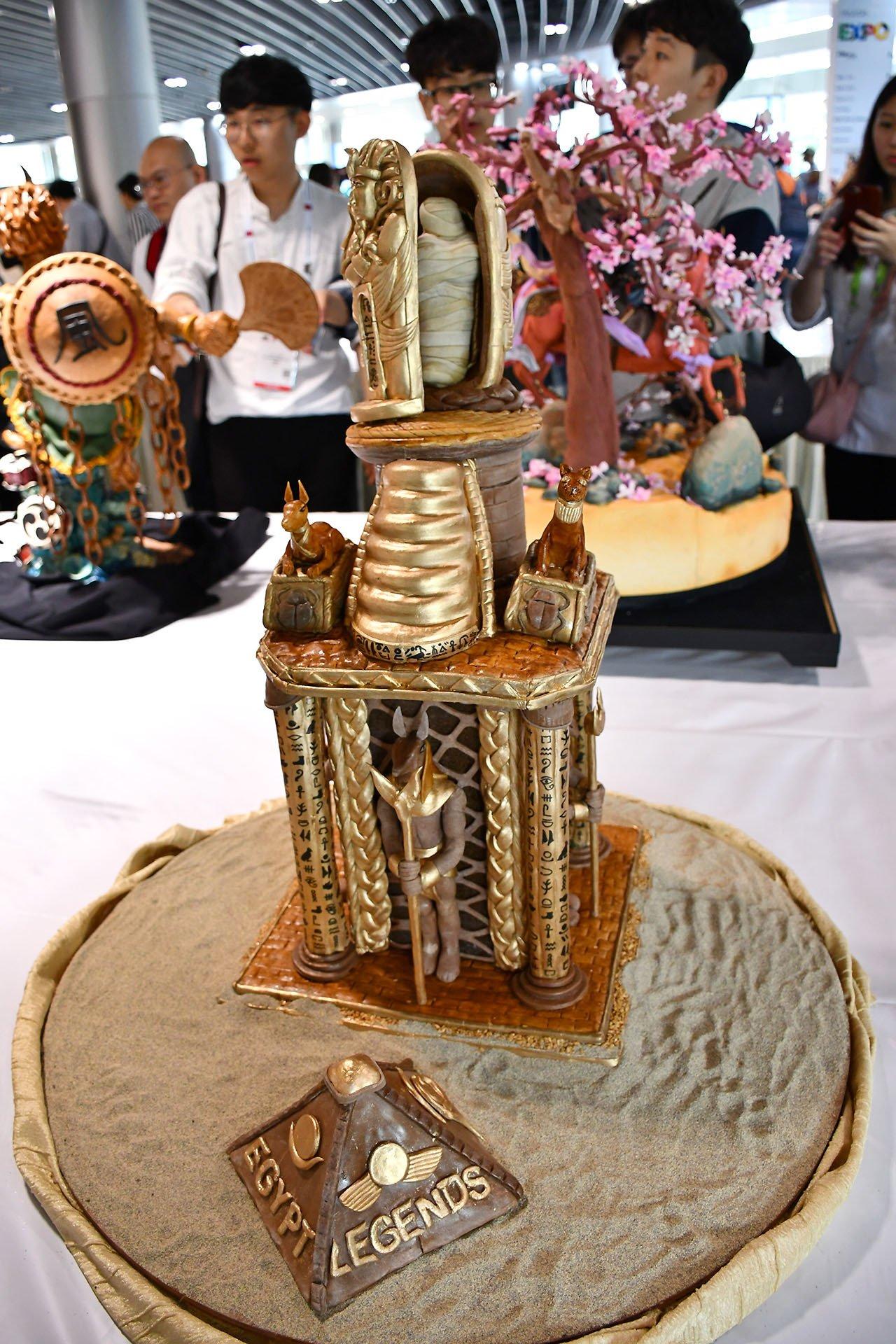 FHA 2018 Pastry Showpieces - Egypt Legends