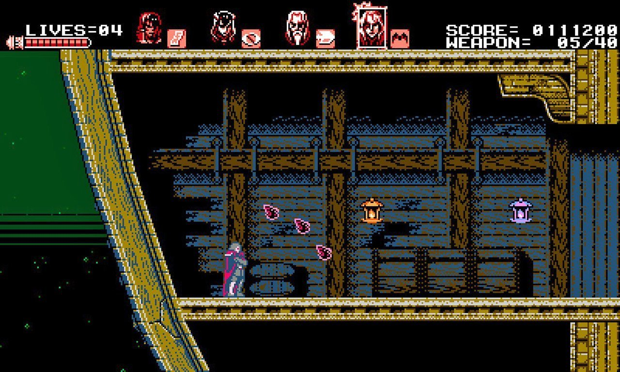 Bloodstained: Curse of the Moon - Gebel Basic Attack.