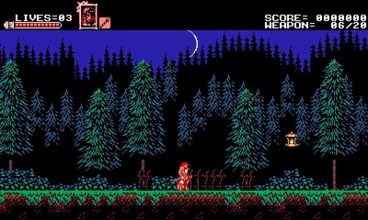 Stage 1 in Bloodstained: Curse of the Moon..