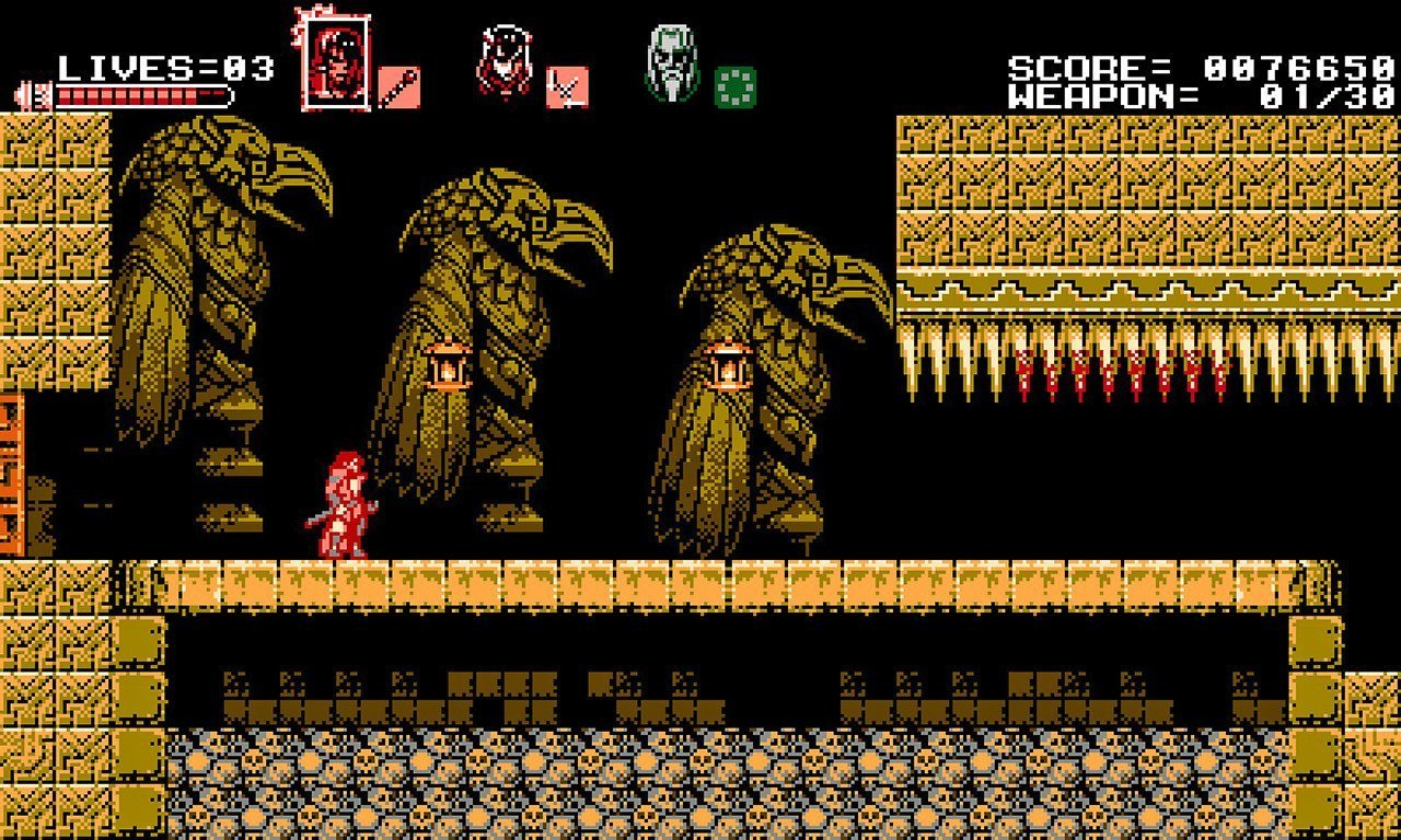Bloodstained: Curse of the Moon Stage 3.