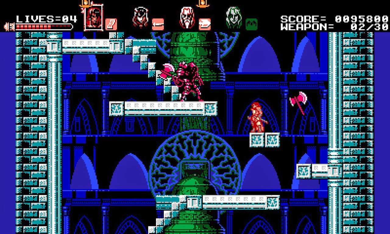 Bloodstained: Curse of the Moon Stage 4.