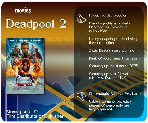 Deadpool 2 review - 7 thumbs up and 2 thumbs down.