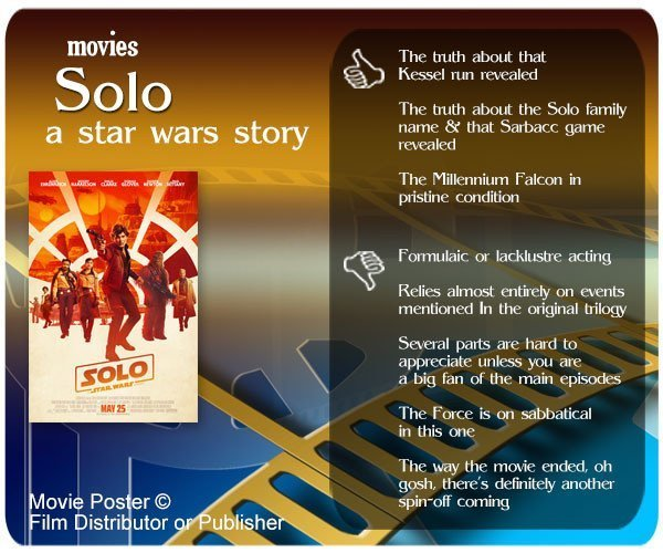 Solo: A Star Wars Story review - 3 thumbs up and 5 thumbs down.
