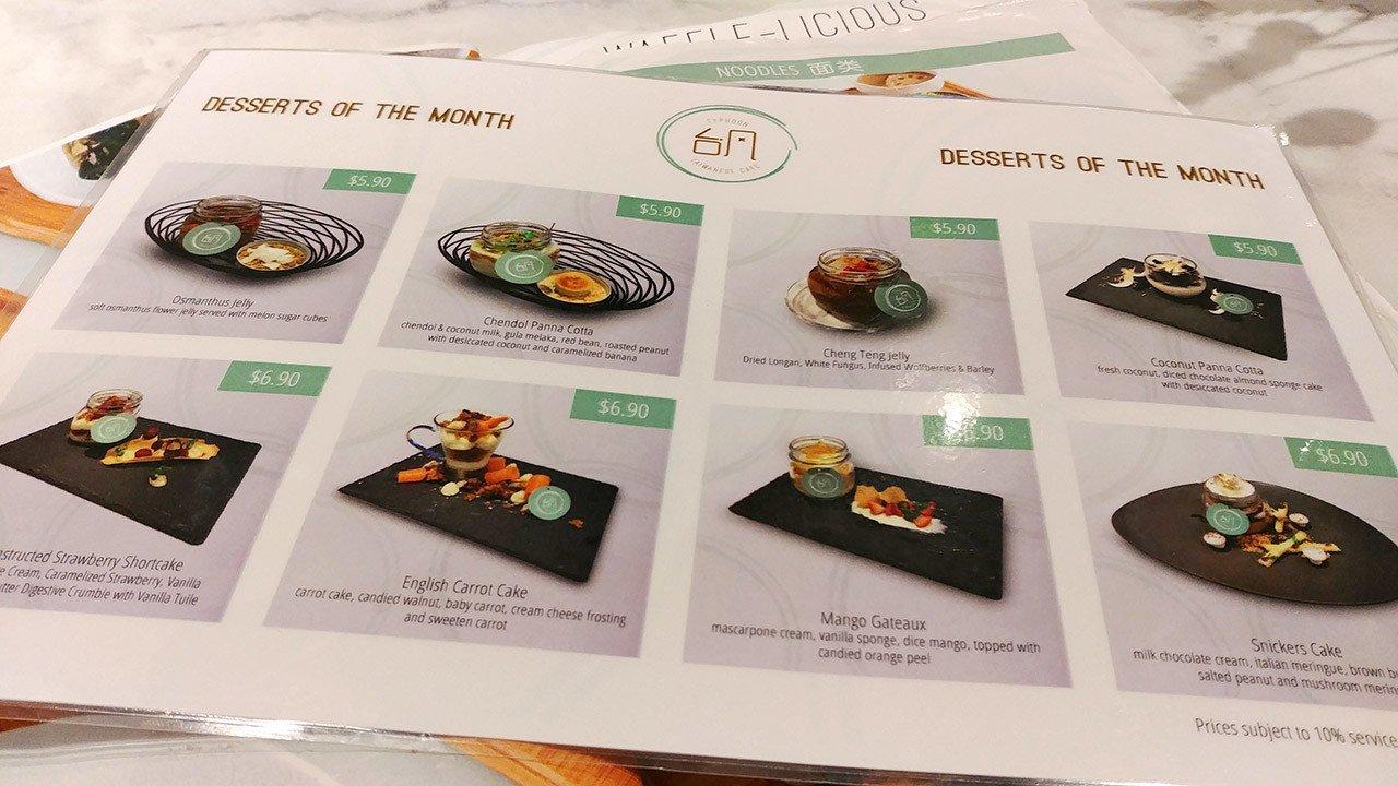 Typhoon Café Desserts of the Month Promotion
