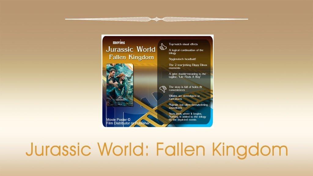 Jurassic World: Fallen Kingdom Movie Review.