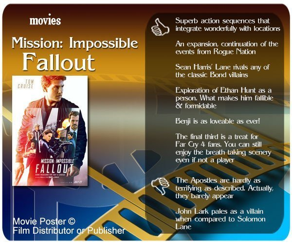 Mission: Impossible – Fallout review - 6 thumbs up and 2 thumbs down.