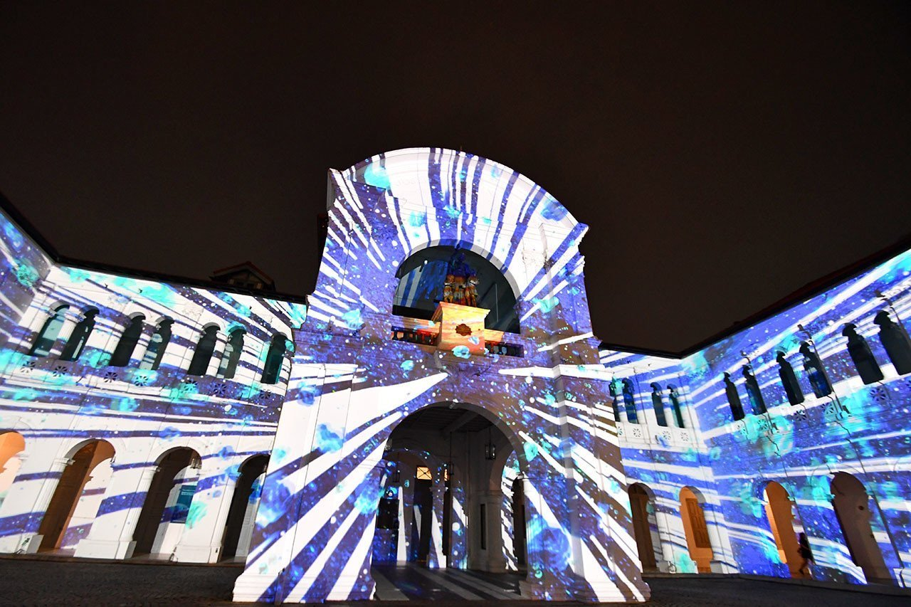 Singapore Art Museum Light Show.