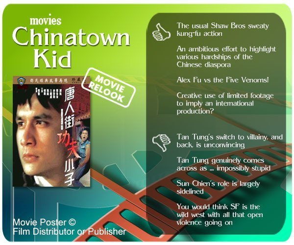 Shaw Brothers' Chinatown Kid (唐人街功夫小子) review - 4 thumbs up and 4 thumbs down.
