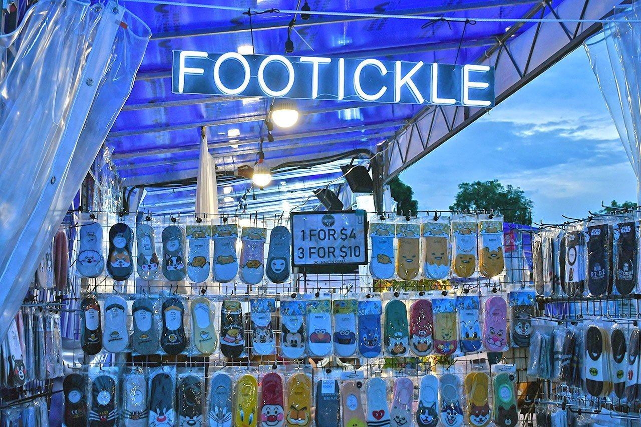 Footickle Socks at CMYK Event Singapore