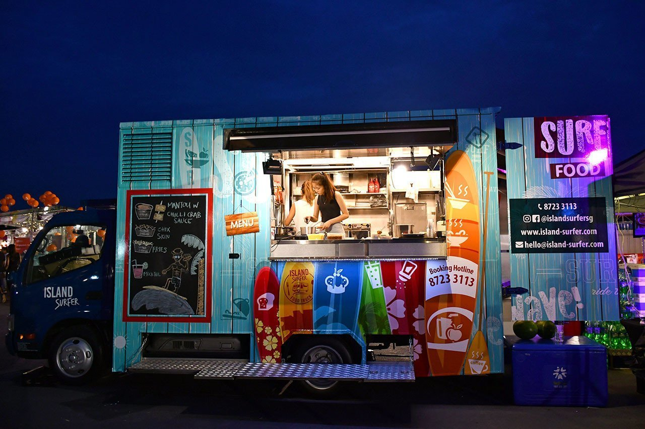 Island Surfer Food Truck at CMYK Event, Singapore