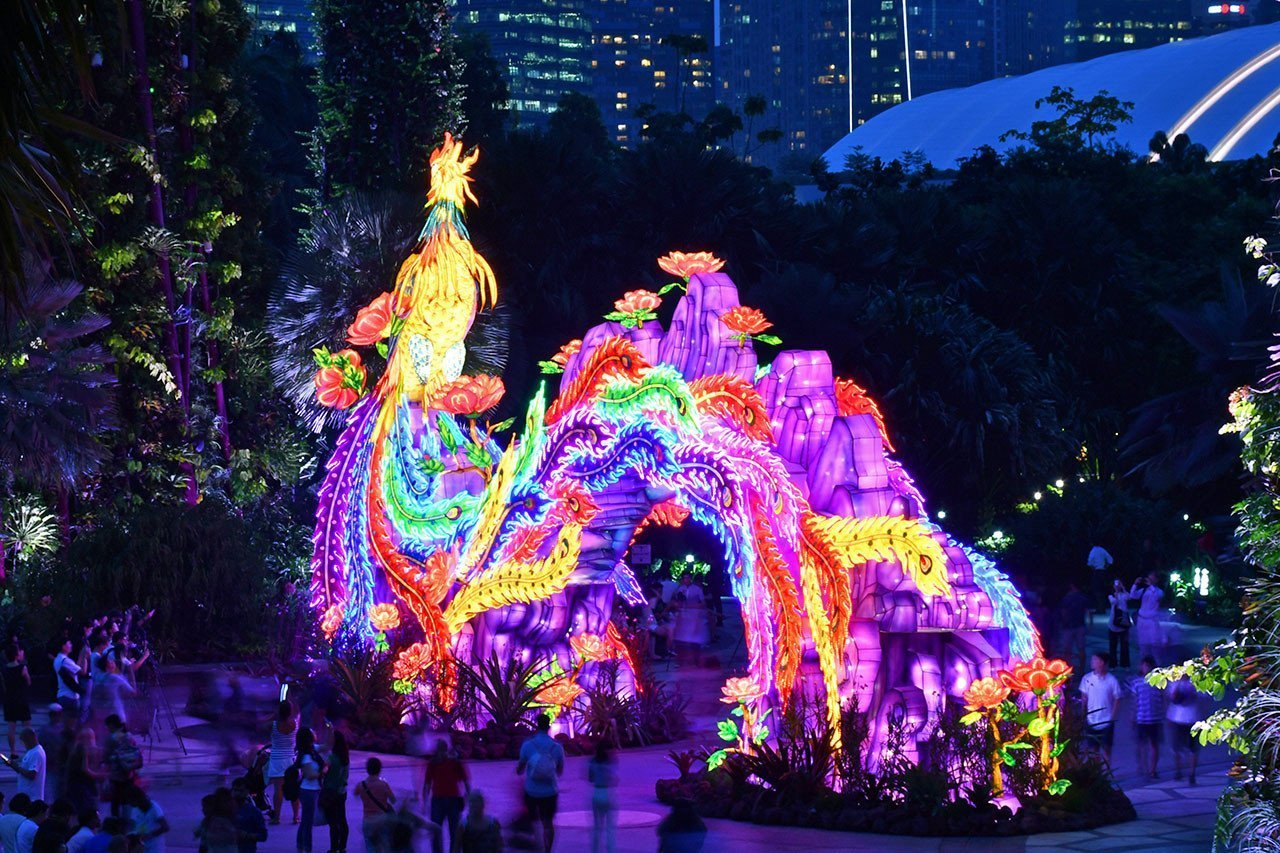 Gardens by the Bay Mid-Autumn Festival 2018 Supertree Grove