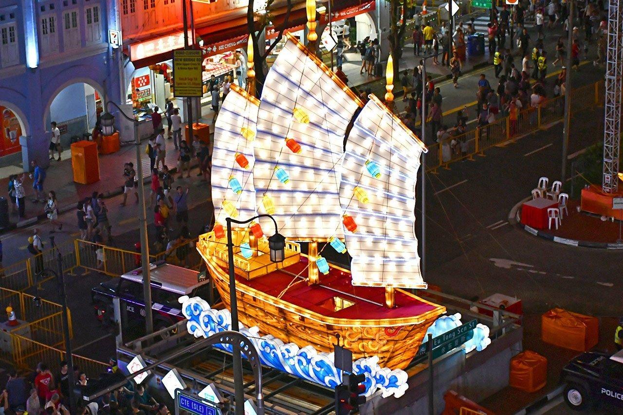 Singapore Chinatown Mid-Autumn Festival 2018 - Chinese Junk Lantern