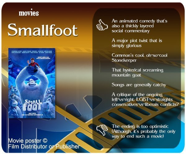 Smallfoot (Film) review - 6 thumbs up and 1 thumbs down.