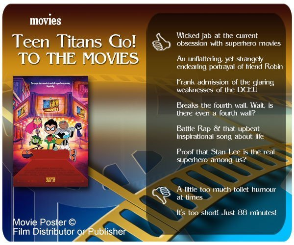 Teen Titans Go! To the Movies review - 6 thumbs up and 2 thumbs down.