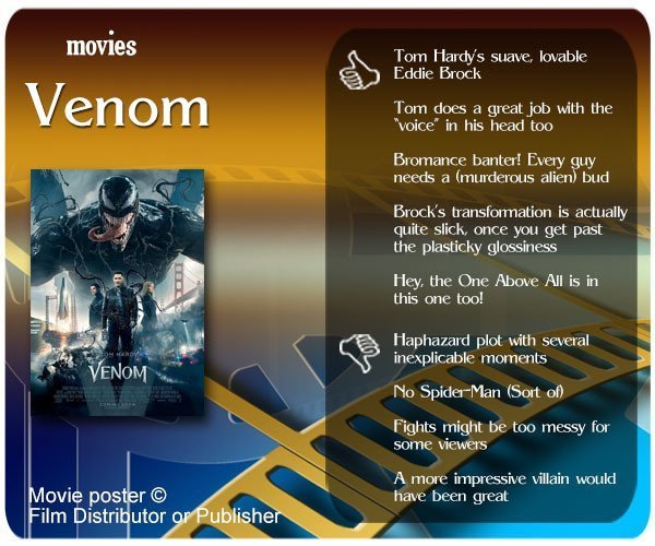 Venom (2018 Film) review - thumbs up and thumbs down.