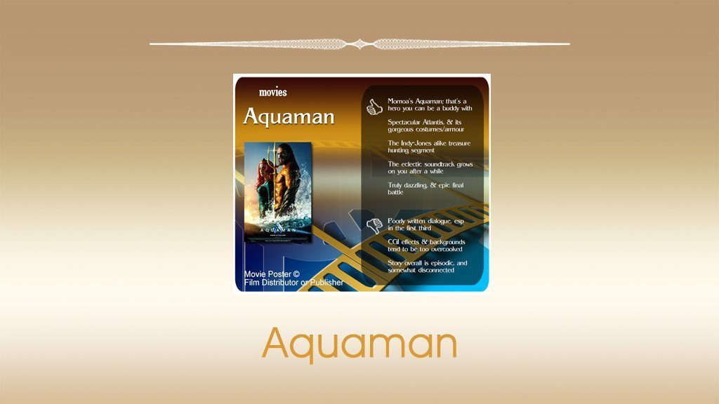 Aquaman (2018 Film) Review