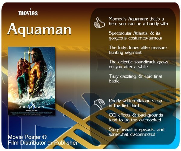 Aquaman (2018 Film) Review: 5 thumbs-up & 3 thumbs-down