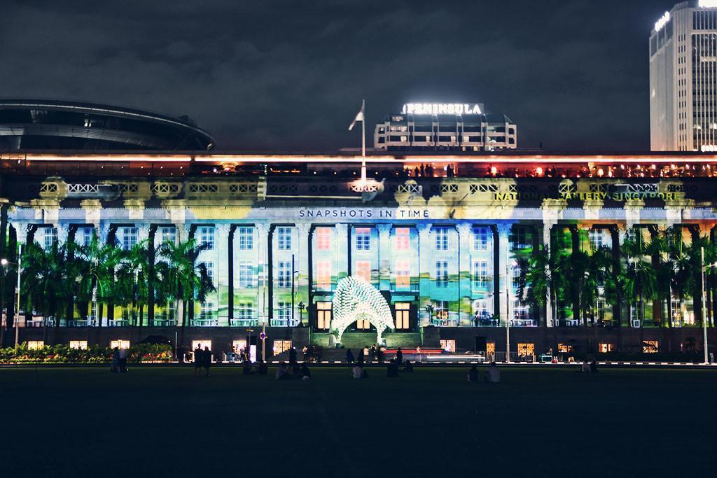 National Gallery Singapore Light Show 2019.