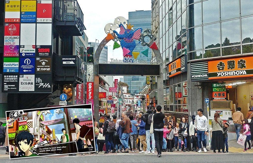 Persona 5 Harajuku Takeshita Street in Real Life