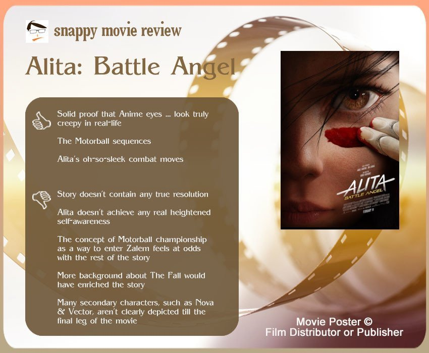 Alita: Battle Angel Movie Review: 3 thumbs-up and 5 thumbs-down