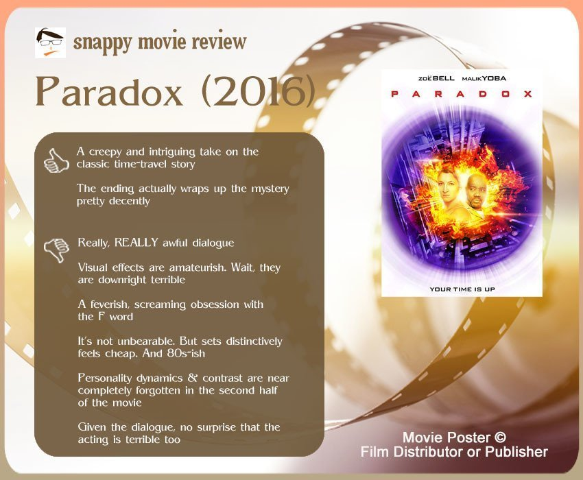 Paradox (2016) Movie Review: 2 thumbs-up and 6 thumbs-down