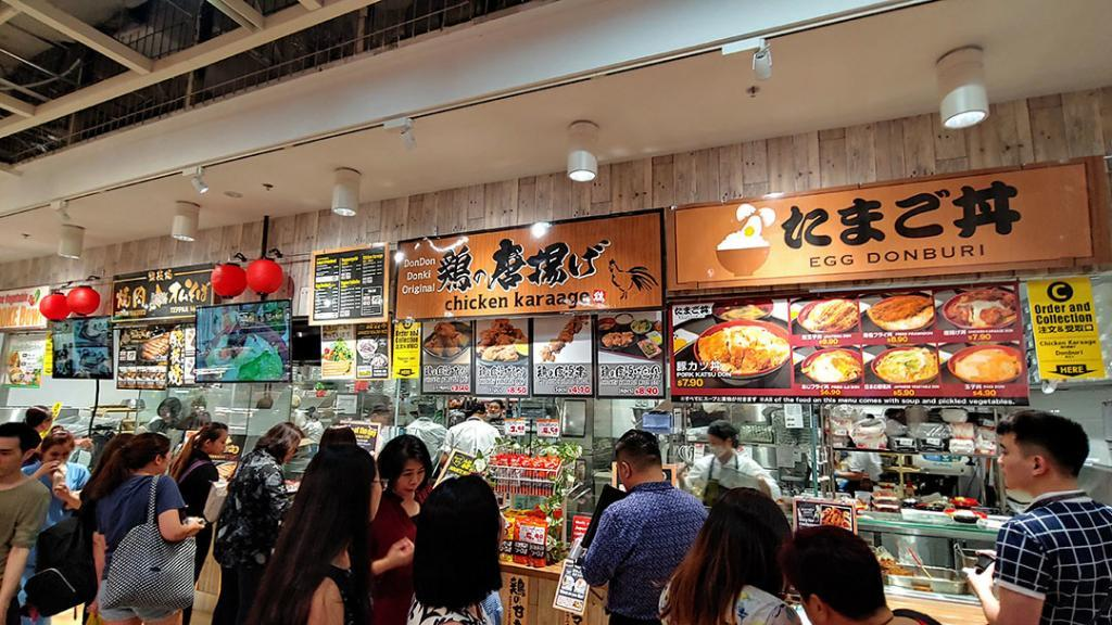 Don Don Donki Square 2 Cooked Food Section.