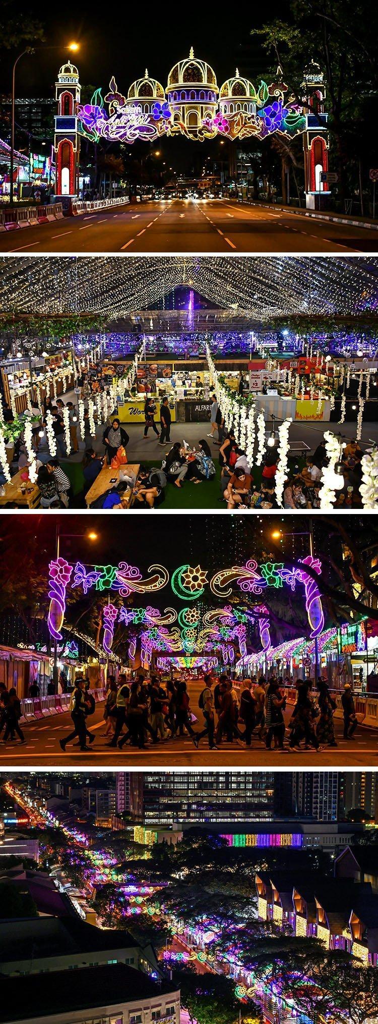 Geylang Serai Bazaar Festive Light-up 2019.