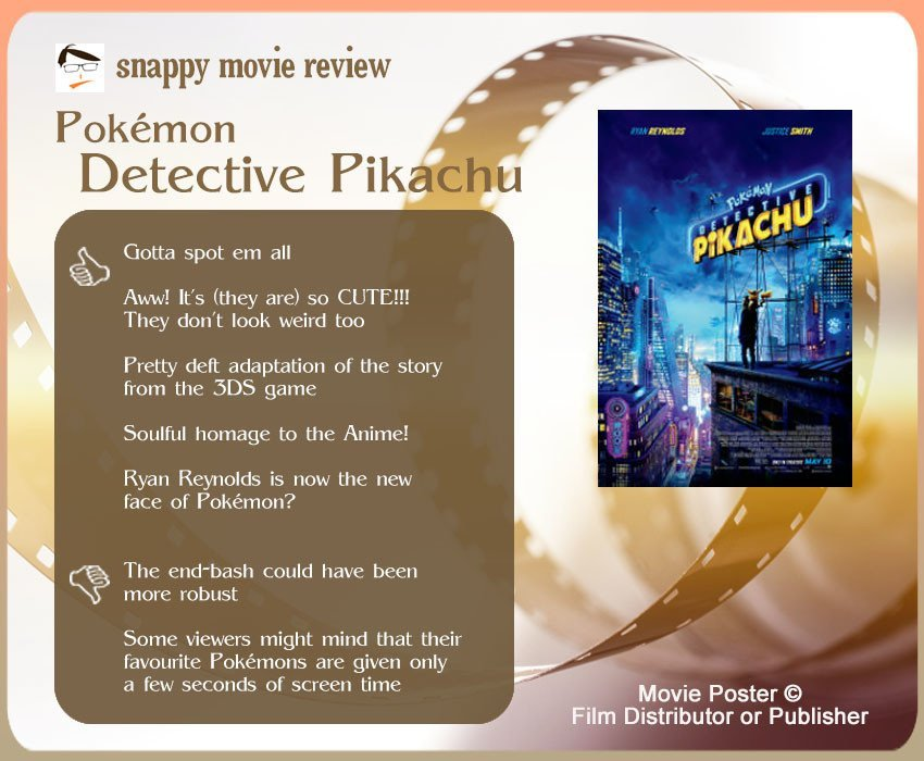 Pokémon Detective Pikachu Review: 5 thumbs-up and 2 thumbs-down