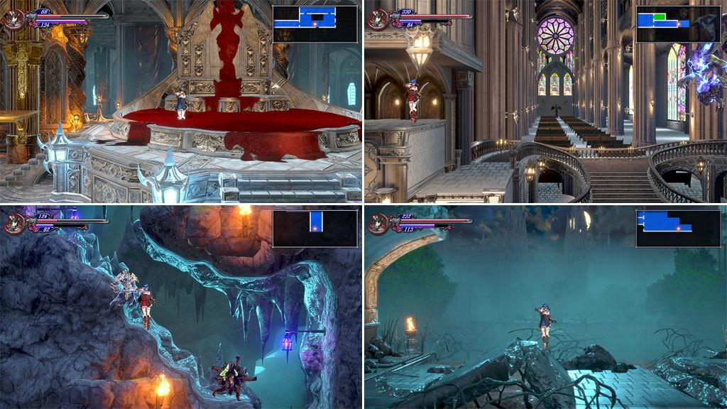 Various areas in Bloodstained: Ritual of the Night.