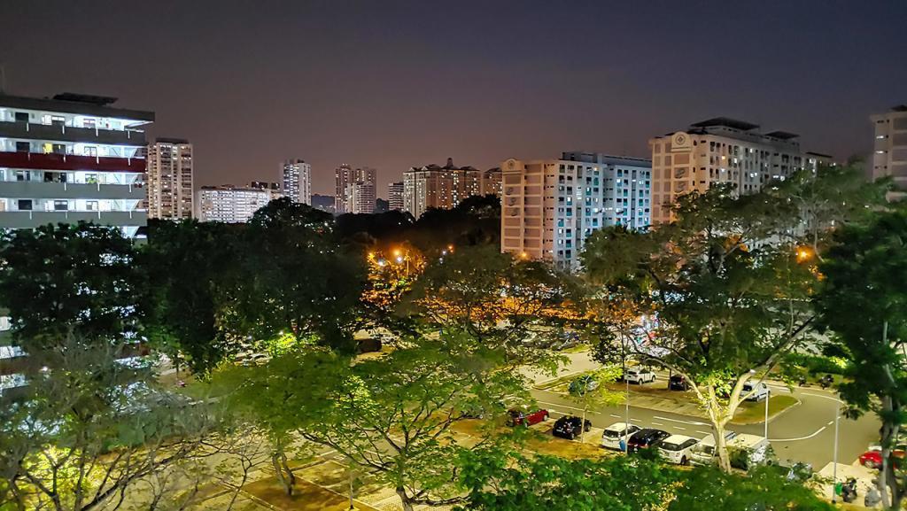 Ang Mo Kio HDB Estate Evening View.