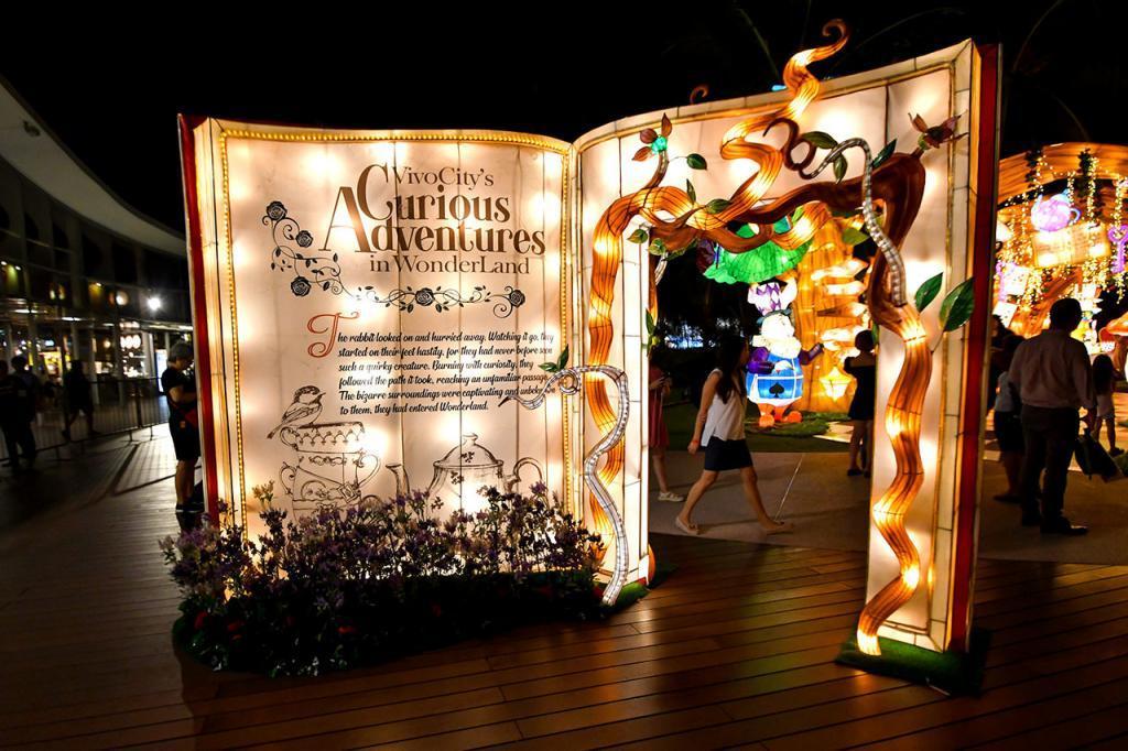 Alice in Wonderland Lantern Display,