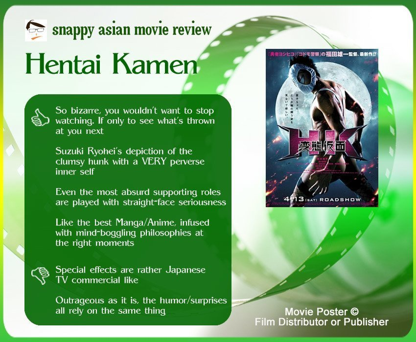 Hentai Kamen Review: 4 thumbs-up and 2 thumbs-down.