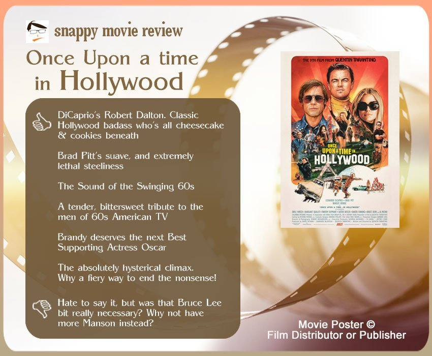 Once Upon a Time in Hollywood Review: 6 thumbs-up and 1 thumbs-down.