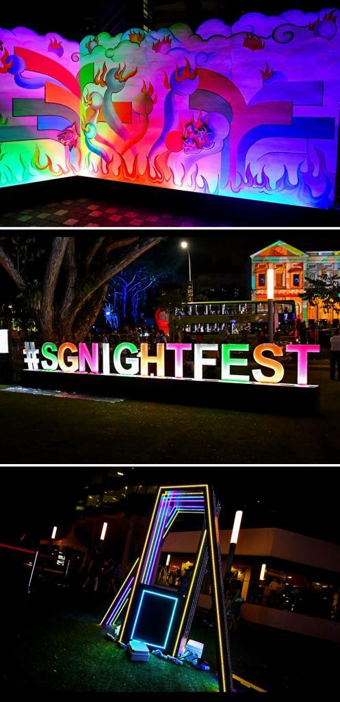 Singapore Night Festival 2019 SMU Campus Green Night Lights & Programmes.